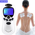 Niunew 8 Models Electric Herald Tens Acupuncture EMS Body Massage Digital Therapy Dual Output Machine For Back Neck Foot Care
