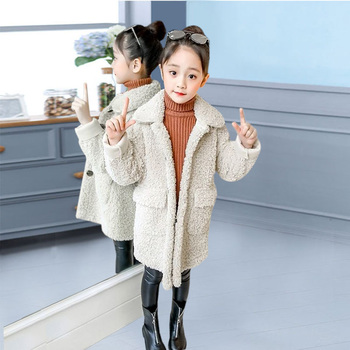 Girls Winter Jacket Faux Fur Girls Coat Pageant Warm Jackets For Girls Christmas Clothes Casual Kids Outerwear 4 6 8 10 12 Years 2018 winter girls faux fur coat kids fox fur jackets color mixing baby girls fur coat girls winter coat children snowsuit 2 12y