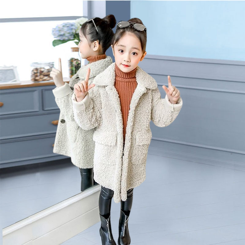 meninas inverno jaqueta de pele do falso meninas casaco concurso quente jaquetas para meninas roupas de