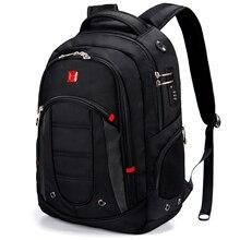 Вместительный мужской деловой дорожный рюкзак с кодовым замком, с USB-зарядкой, многослойная Сумка для ноутбука 15,6 дюйма, брендовые школьные ...