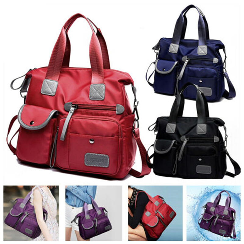 Women Nylon Multifunction Handbag Waterproof  Messenger Travel Multi Pockets Large Capacity With Shoulder Strap Tote Fashion Men