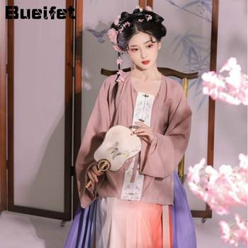 Tang Dynasty Folk Hanfu Dress Women Princess Costume Tang Suit Chinese Traditional Carnival Outfit Anicent Han Dynasty Cosplay chinese traditional fairy costume ancient han dynasty princess clothing national hanfu outfit stage dress cosplay costume