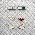 2 шт./компл. модная эмалированная брошь с милыми крыльями, оригами, батарея, Микс значков, булавки для рюкзаков, ювелирные изделия, подарок