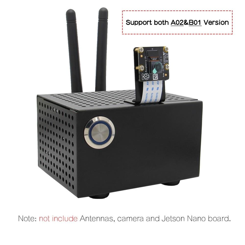 NVIDIA Jetson Nano Metal Case / Enclosure With Power & Reset Control Switch For NVIDIA Jetson Nano Developer Kit