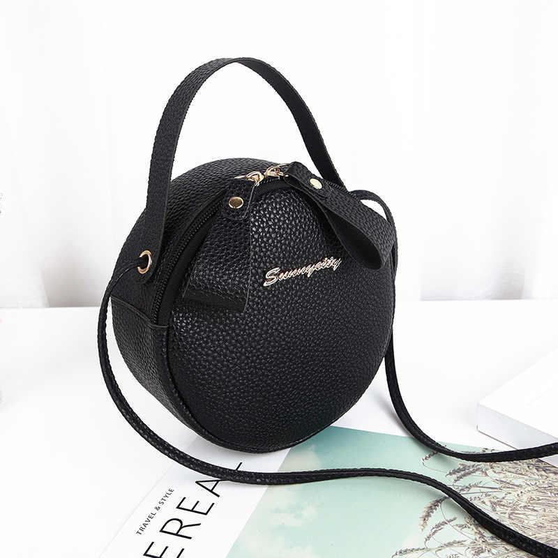 2020 新ミニ女性バッグ韓国ショルダーバッグスモールラウンドバッグメッセンジャーバッグレディースハンドバッグショルダーバッグ携帯電話バッグ