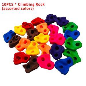 Image 2 - 10PCSกลางแจ้งในร่มเด็กปีนเขาRockชุดผนังหินสนามเด็กเล่นไม่มีสกรูขนาดเล็กBackyardปีนเขาRockชุด