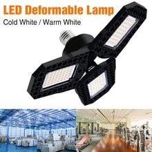Luces de techo deformables para garaje, Bombilla de iluminación de alto Taller de poder, E27, 40W, 60W, 80W, 2835, lámpara LED plegable de tres hojas