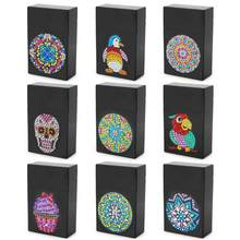 DIY Diamond Painting Storage Box Part Drill Plastic Black Business Card Holder Creative Mandala Office Desktop Gadgets(China)