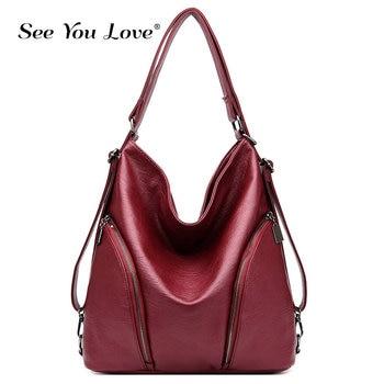 2019 Fashion Women Handbags Large Capacity Tote Bags Multifuction Leather Bags Designer for Women Shoulder Crossbody Bags Sac