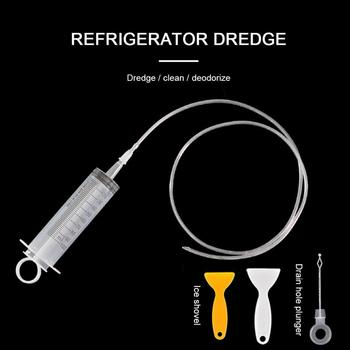 4-piece Refrigerator Dredge Drain Hole Dredge Water Channel Artifact Refrigerator Refrigerated Drain Pipe Set Home Cleaning Tool image