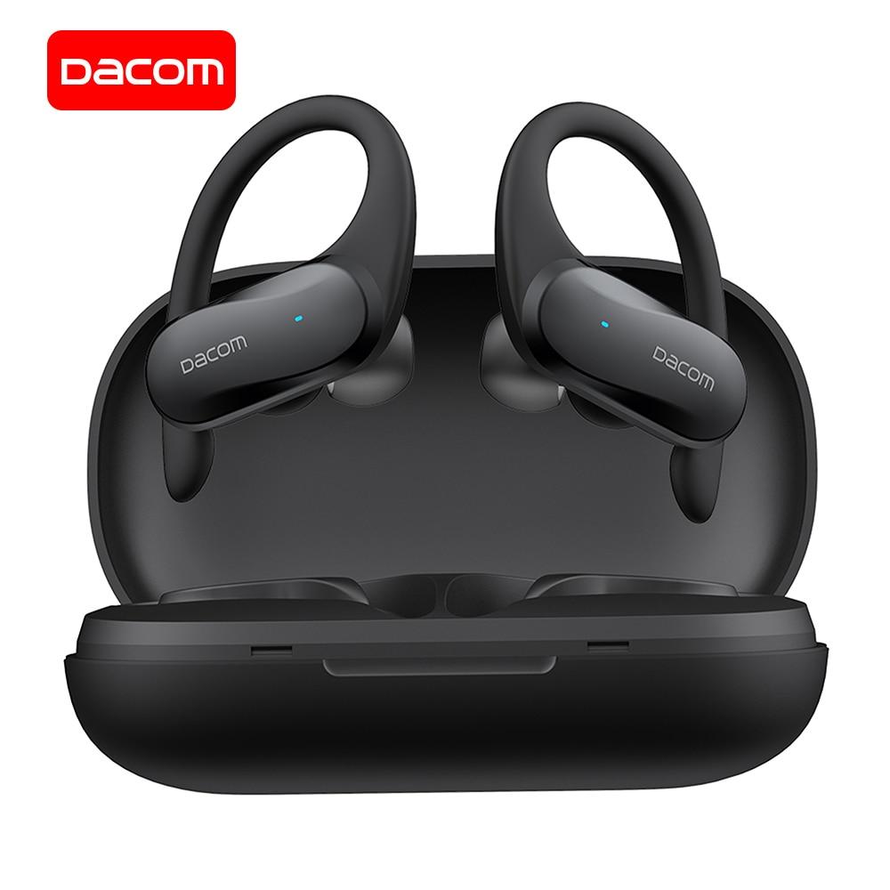 Спортивные Bluetooth наушники DACOM G05 TWS, встроенный микрофон, HD бас-звук, настоящие Беспроводные стереонаушники для iPhone, Samsung