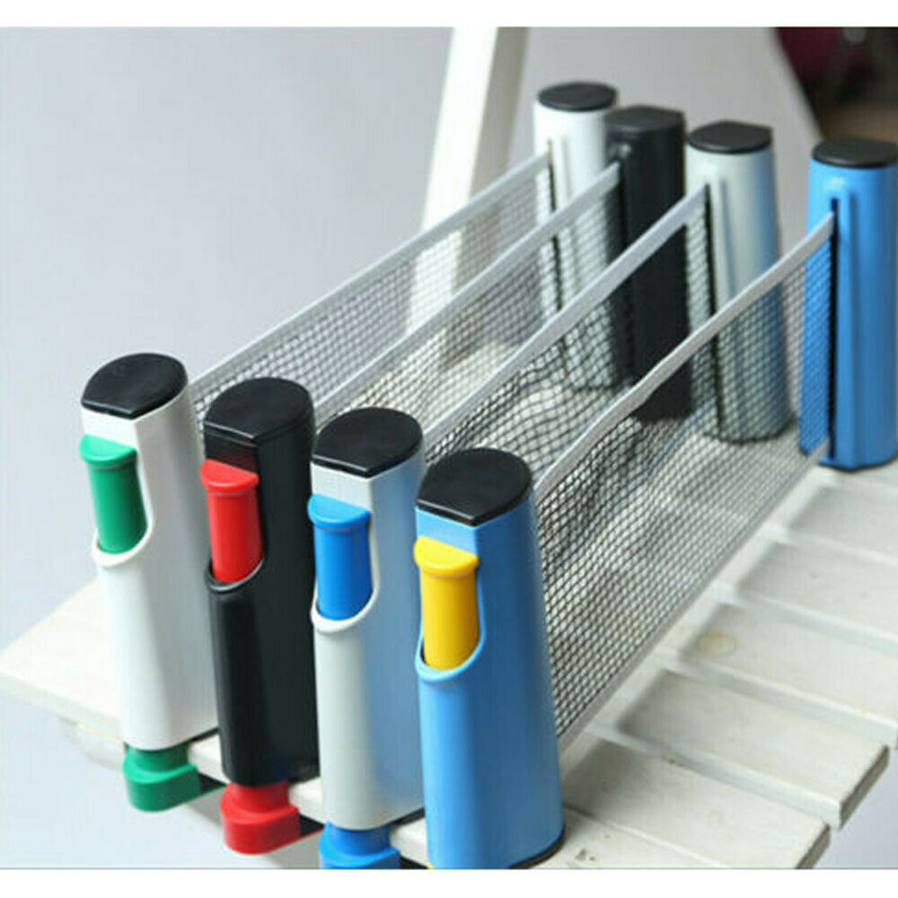 New Creative Table Tennis Net Portable Retractable Ping Pong Post Net Rack For Any Table 1 Set Of Table Tennis Rackets Ping Pong