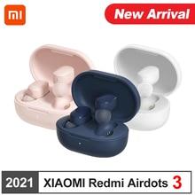 Original Xiaomi Redmi AirDots 3 TWS Mi inalámbrica Headst Bluetooth 5,2 auricular de enlace Chip Qualcomm Control táctil