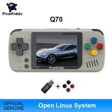 Powkiddy Q70 오픈 시스템 비디오 게임 콘솔 레트로 핸드 헬드, 2.4 인치 화면 휴대용 어린이 게임 플레이어 16 기가 바이트 메모리 카드