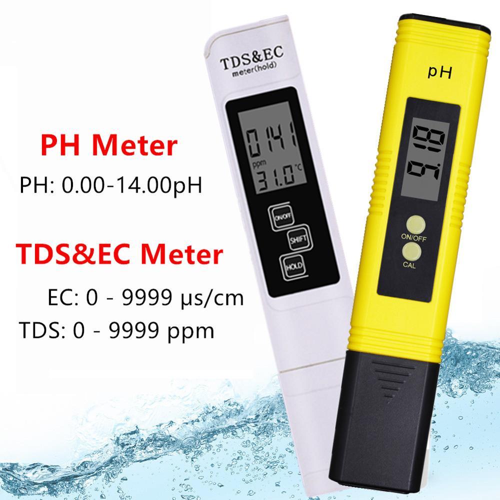 Digital PH EC TDS Meter Tester Temperature Pen Water Purity PPM Filter Hydroponic for Aquarium Pool Water Monitor 40%