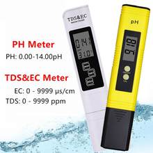 Digital PH CE medidor de TDS Tester de temperatura pluma de pureza de agua Filtro de PPM hidropónico acuario agua Monitor 40%
