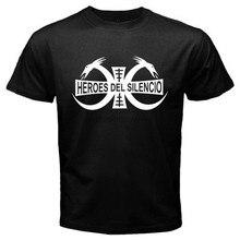 Camiseta negra con Logo de la banda Rock de héroes DEL SILENCIO para hombre, talla S a 3XL, nueva