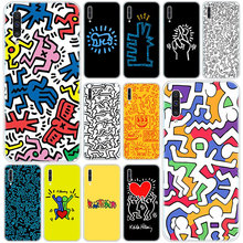 Hot Keith Haring art Silicone Case for Samsung Galaxy A90 5G A80 A70 A60 A50 A40 A30 A20 A10 S A10E A20E M10 M30S M40 Cover