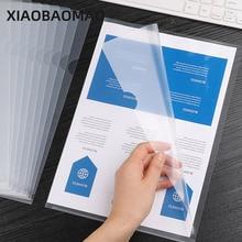10Pcs A4 Transparent L Folder Document Pocket File Sheets Protectors Paper Keeper Office Business Use File Pouch