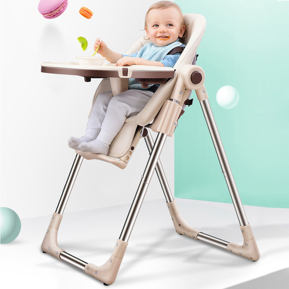 Baby Highchair For Feeding Authentic Portable Baby Seat Booster Seat Adjustable Folding Chairs For Children For Dropshipping