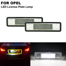 цена на 2pcs No Error Clear Xenon White LED Number License Plate Light Lamp For OPEL Astra F Estate G saloon Corsa B Omega Vectra Zafira