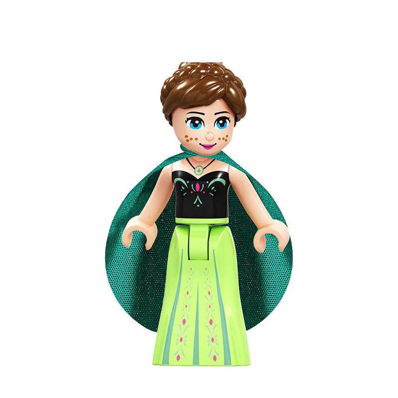 Bajka księżniczka miasta serii kopciuszek biały śnieg lalki Anna Playmobil klocki przyjaciele zabawki klocki dla dzieci zk26