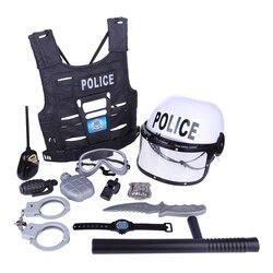 Surwish 8 pces/9 pces/11 pces crianças jogar & fingir brinquedos educativos simulação polícia jogo