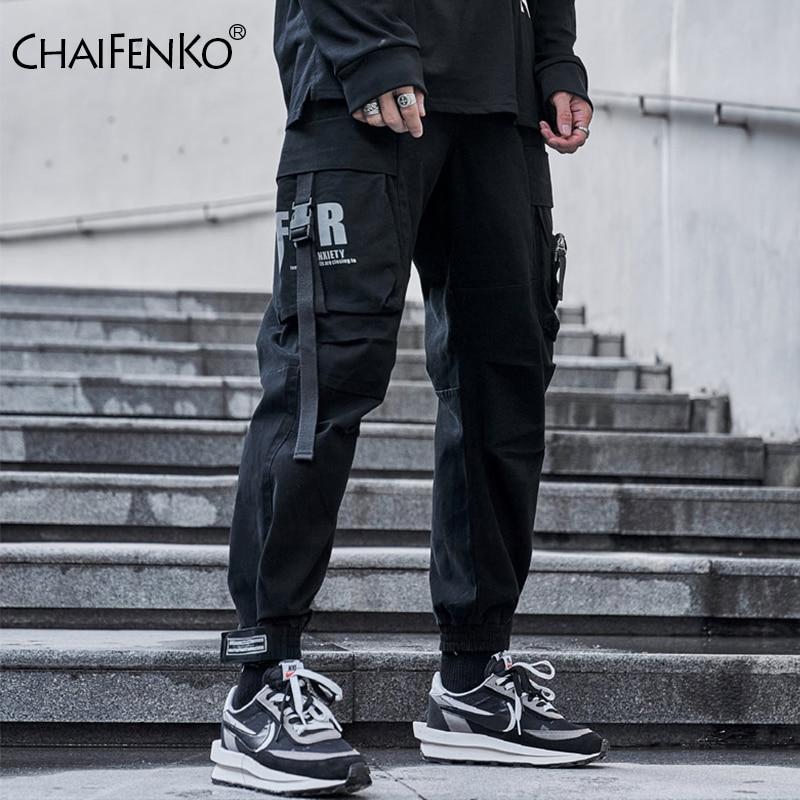 CHAIFENKO Hip Hop Cargo Pants Men Fashion Harajuku Black Harem Pant Streetwear Joggers Sweatpant Multi-Pocket Casual Mens Pants