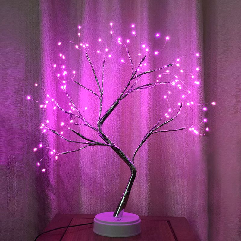 Tree Branch Desk Lamp Touch Switch Vintage Style Light For Party Home Decor K1MF