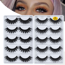 MB 5 Pairs Faux 3D 100% Mink Eyelashes Thick Soft Volume False Lashes Natural faux cils natural Makeup Beauty Extension