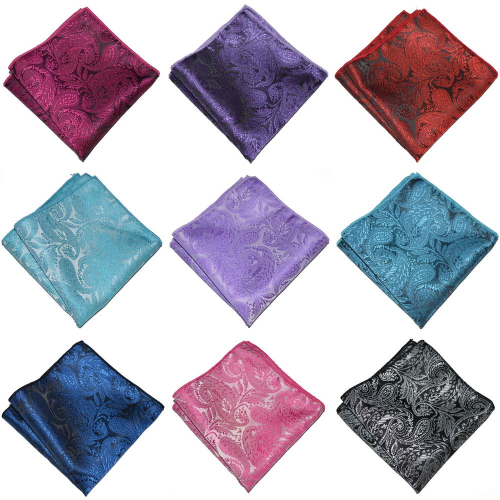 Men's Accessories Party Handkerchief Men Paisley Floral Printed Pocket Square YXTIE0333
