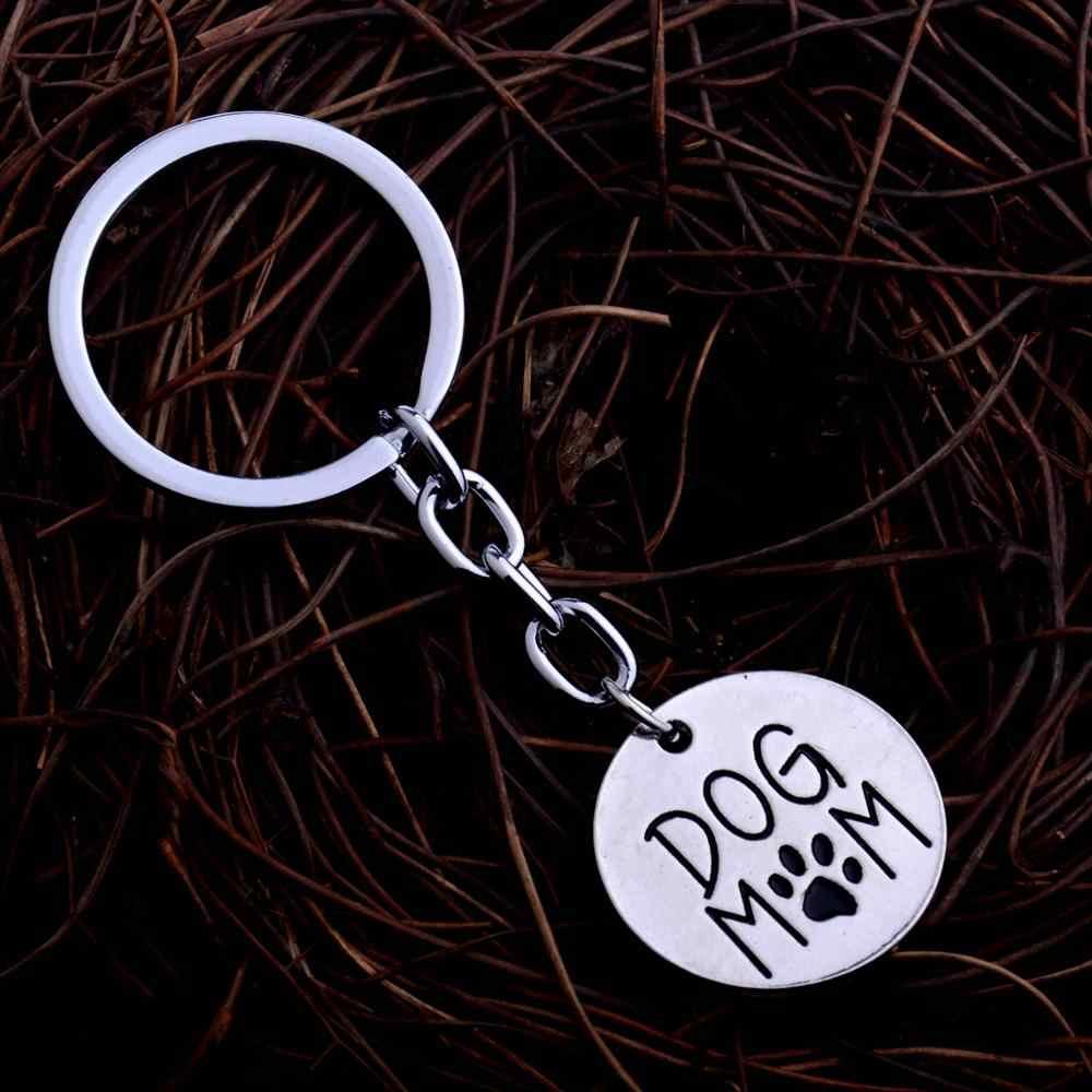 Os Amantes de animais de estimação Chaveiro Animais Patas Garras Impressão Encantos Chaveiro Anéis Mamã Do Cão Chaveiros Jóias Presentes de Natal Das Mulheres Da Família Mãe