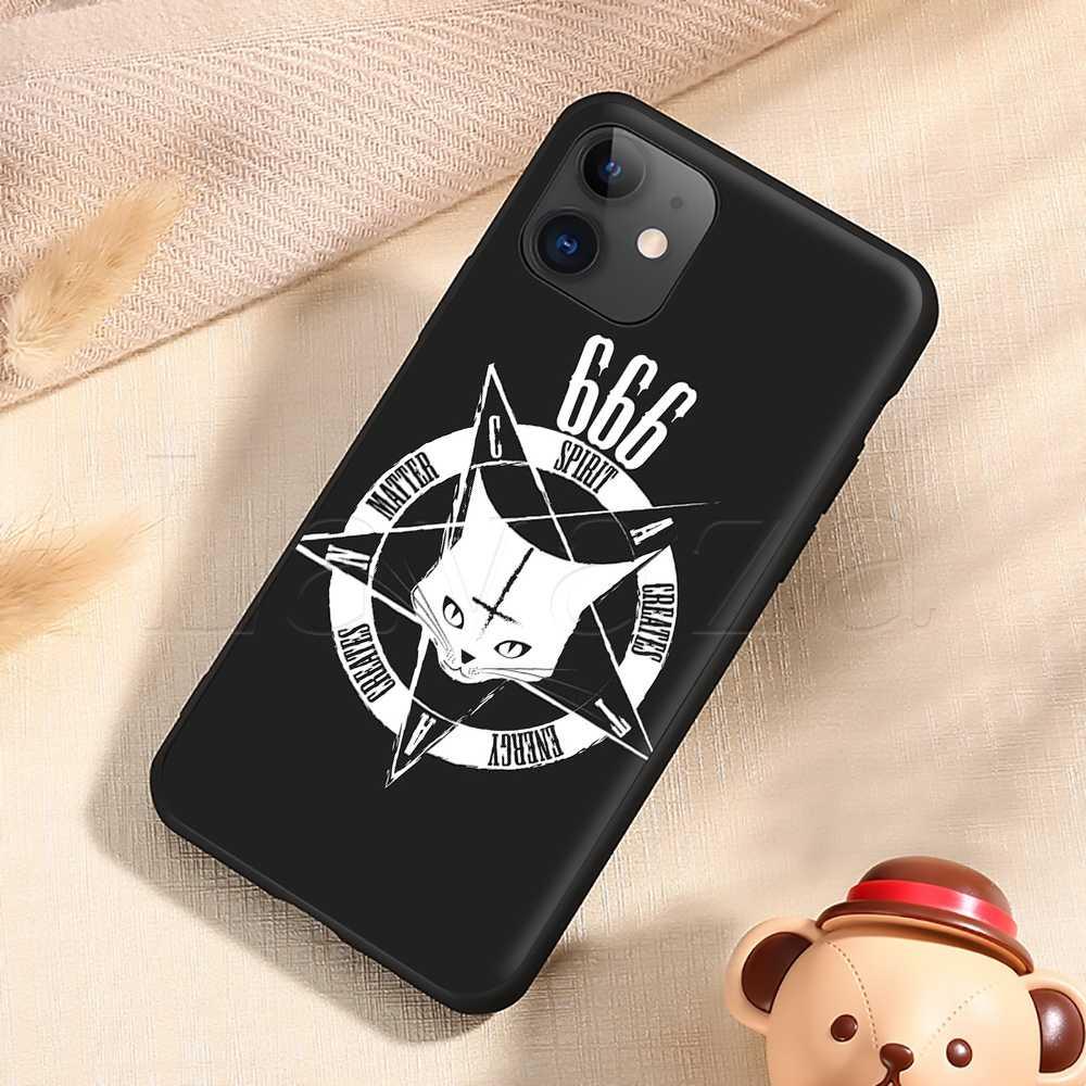 Lavaza Pentagramma 666 Demoniaco Satanico Cassa Molle Del Silicone per il iPhone 11 Pro XS Max XR X 8 7 6 6S Plus 5 5S SE