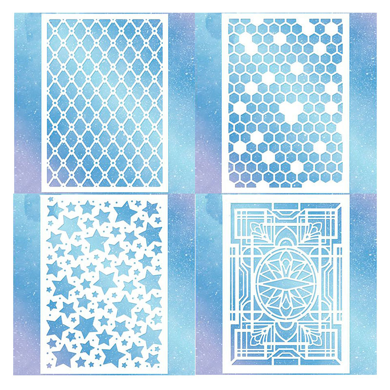 Honeycomb Diamond Lattice Stars Deco Delights Background Plates Metal Cutting Dies For DIY Scrapbooking Cards Crafts New  2019