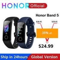 Globale Version Honor Band 5 Band5 Smart Armband Blut Sauerstoff Echtzeit Herzfrequenz Monitor 0.95 ''AMOLED Bildschirm 5ATM Wasserdicht