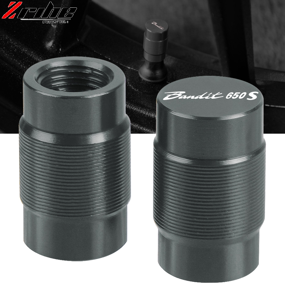 For Suzuki GSF 600 S GSF <font><b>650</b></font> S Bandit 650S Motorcycle CNC Aluminum Accessorie Wheel Tire Valve Stem Caps CNC Airtight Covers image