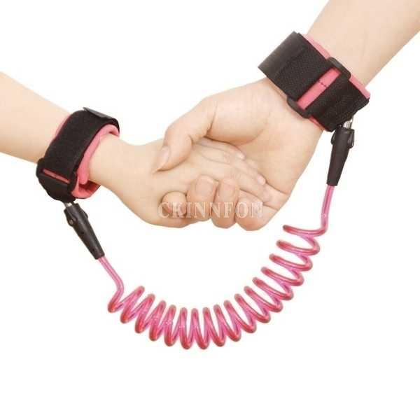 100 יח'\חבילה מתכוונן ילדים בטיחות חבל ילד יד רצועה אנטי איבד קישור ילדי חגורת הליכה עוזר בייבי 1.5M 2M