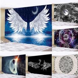 Крылья под звездным гобелен с изображением неба настенный гобелен настенный художественный Спальня окна Декор стены штора-гобелен фон