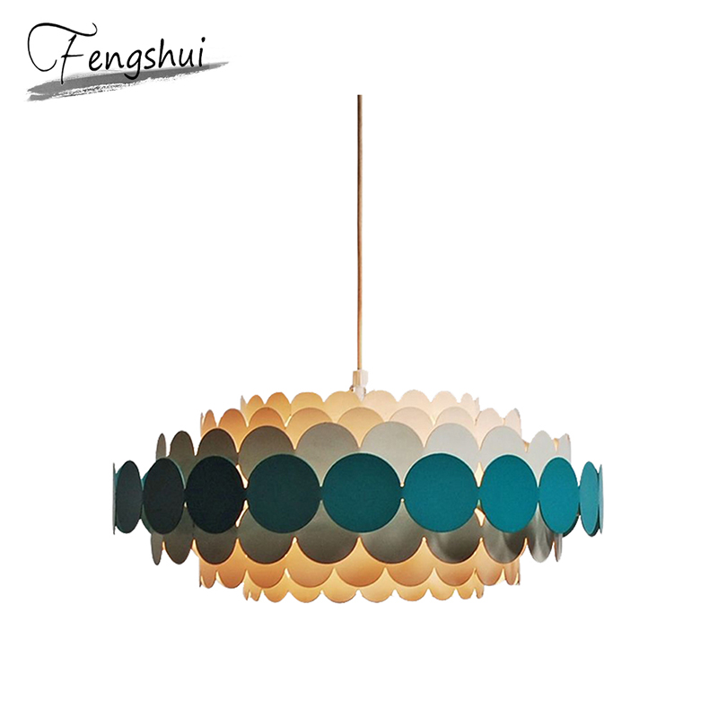 Modern Iron Pendant Lights Lamp Simple Nordic Home Decoration Pendant Lighting Living Room Bedroom Loft Dining Room Hanging Lamp
