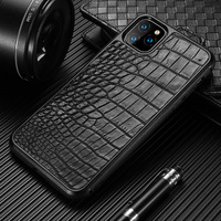 Luxury Genuine Crocodile Leather 360 Full protective Cell Phone Case For Apple iPhone 11 11 Pro Max X XS Max XR 8 6 6s 7 8 plus|Fitted Cases|   -