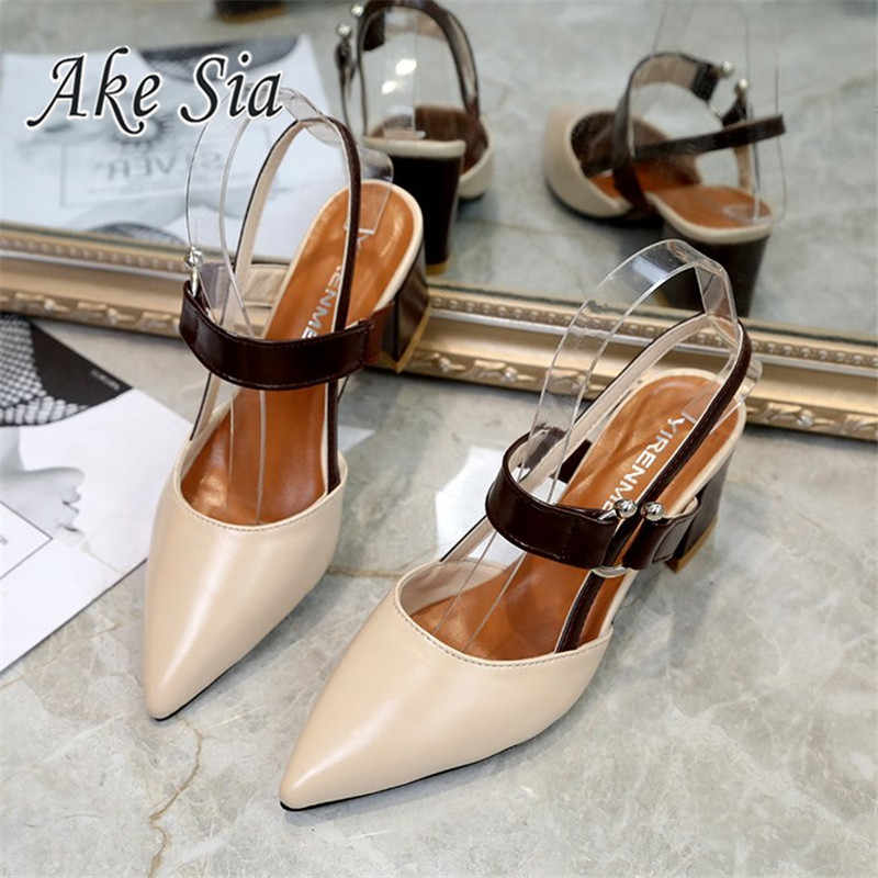 Yeni İlkbahar/sonbahar seksi yüksek topuklu içi boş kaba sandalet yüksek topuklu sığ ağız sivri burun kadın ayakkabı kadın parti ayakkabıları a21