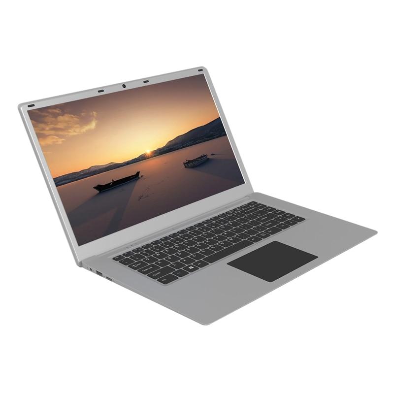 Laptop 15 6 Inch 4G RAM 64GB SSD Portable Ultra-Thin Laptop HD Quad Core Notebook EU Plug
