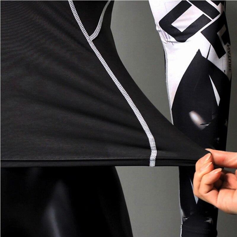 Купить с кэшбэком MMA Compression Sportswear Men's Jogging skin care kits Sports Fitness T-shirt rashguard Male Gym leggings Running tracksuit Men