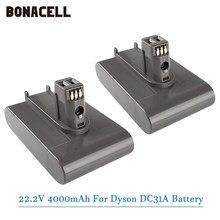 (Tipo a) 22.2v 4000mah li-ion bateria de vácuo para dyson dc35 dc45 dc31 dc34 dc44 dc31 animal dc35 917083-01 l50