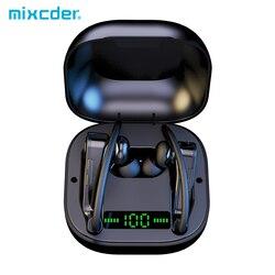 Mixcder T2 Tws Oortelefoon Oorhaak Bluetooth5.0 100mA Draadloze Inear Hoofdtelefoon Waterdichte Sport Oordopjes Met Led Display Microfoon