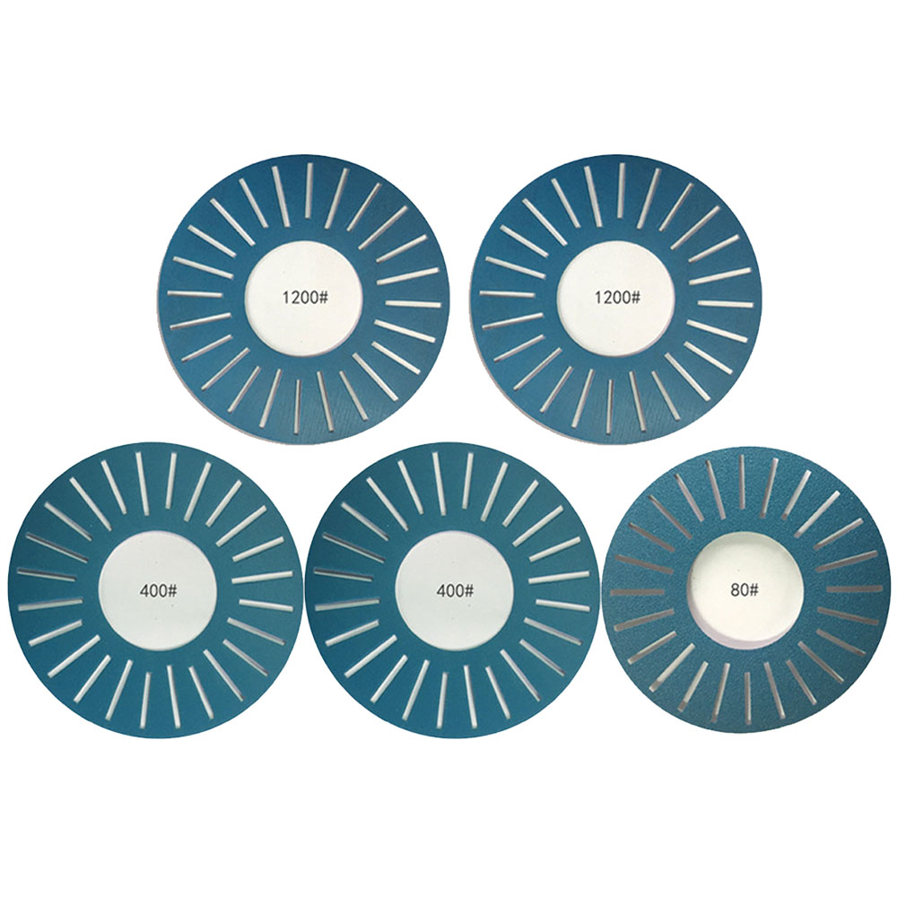 5pcs Blue Slotted Abrasive Kits Adhesive 25 Holes Grinding Sandpaper Disc Sanding Paper DIY Durable For Work Sharp WSSA0002002