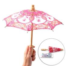 HOTsale Parasol Umbrella Embroidered Lace For Bridal Wedding Party Decoration(China)