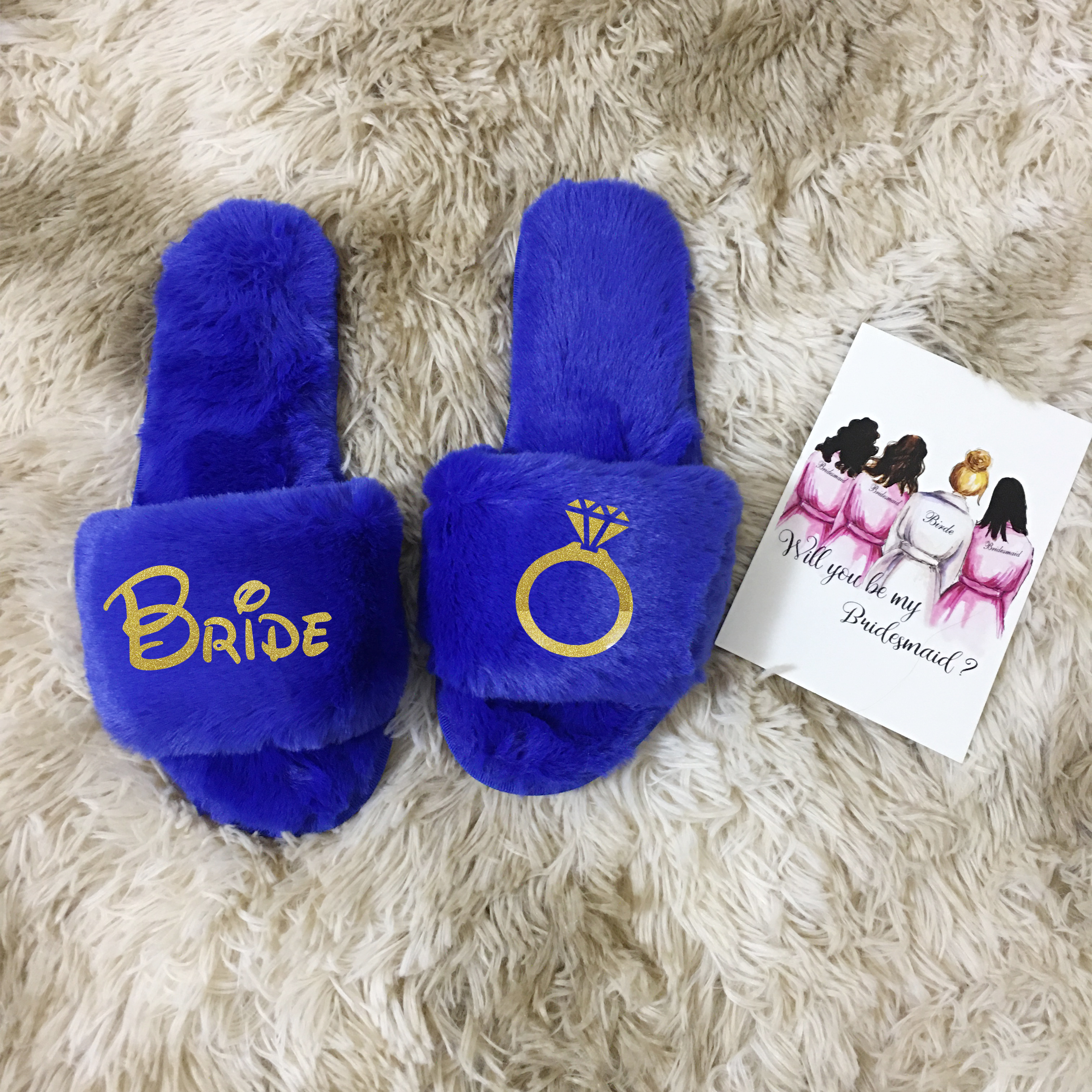 Customized Coral Fleece Slippers Team Bride To Be Bridesmaid Gift Bachelorette Hen Party Gifts For Wedding Guests Slippers