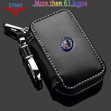 KUNBABY 10 pçs/lote Genunie Couro Car Key Case Capa Chave Titular Carteira Chave Para Todos Os Modelos de Carro Frete Grátis