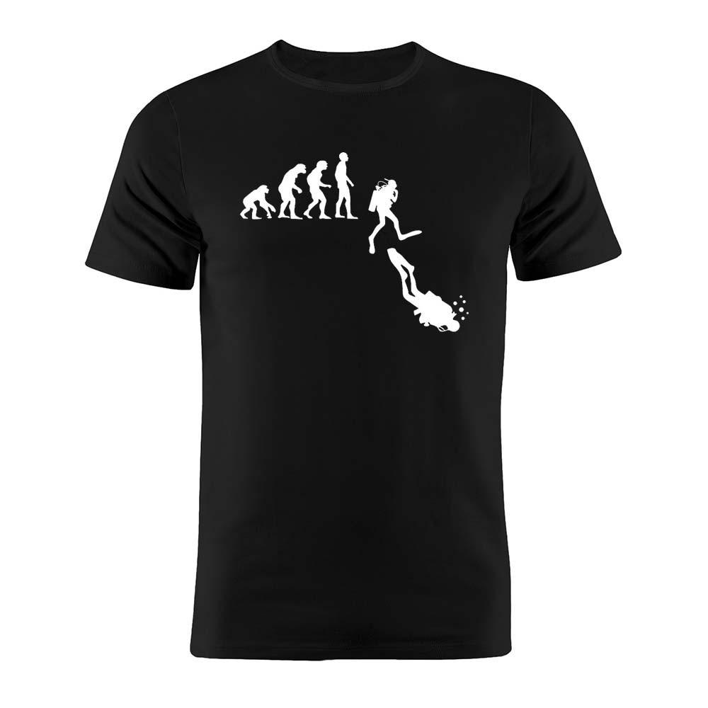100% Cotton Unisex T Shirt Homo Sapiens Evolution Scuba Diving Edition Silhouette Gift Tee